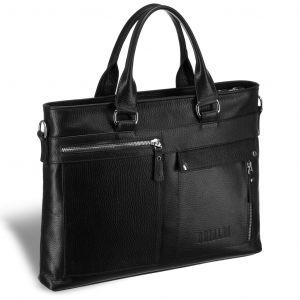 Деловая сумка Slim-формата для документов BRIALDI Bresso (Брессо) relief black
