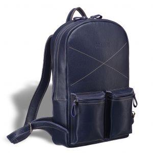 Кожаный рюкзак BRIALDI Bismark (Бисмарк) relief navy