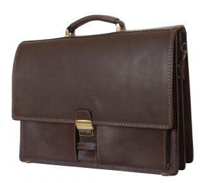 Кожаный портфель Luriano brown