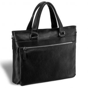Легкая деловая сумка для документов BRIALDI Bosco (Боско) relief black