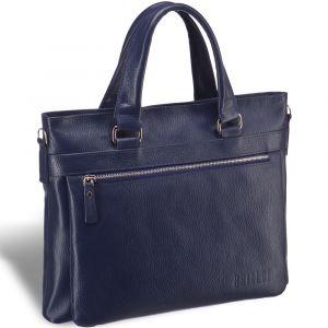 Легкая деловая сумка для документов BRIALDI Bosco (Боско) relief navy