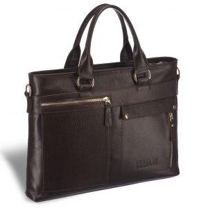 Деловая сумка Slim-формата для документов BRIALDI Bresso (Брессо) relief brown
