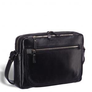 Кожаная сумка через плечо BRIALDI Garland (Гарлэнд) black edition