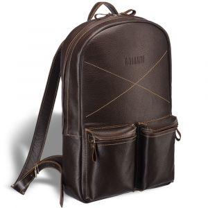 Кожаный рюкзак BRIALDI Bismark (Бисмарк) relief brown