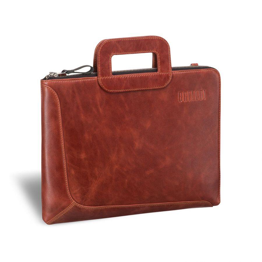 Деловая сумка Brialdi Fontana (Фонтана) antique red