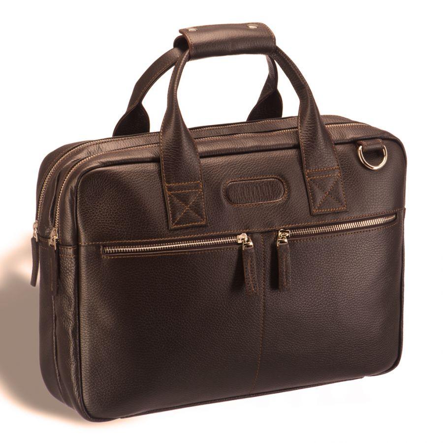 Удобная деловая сумка для документов Brialdi Glendale (Глендейл) relief hazel