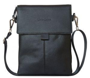 Кожаная мужская сумка Alessano black