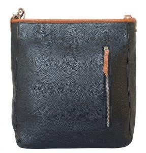 Кожаная женская сумка Adelfia black
